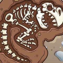 Dinosaurs Bone Digging